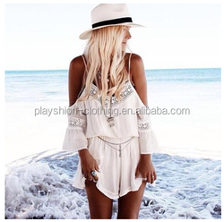 Wholesale 2015 Lastest Summer jumpsuits Sexy Off-shoulder Rompers