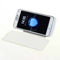 Flip Cover 3200mAh Wireless Battery Charging Case for Samsung Galaxy S4