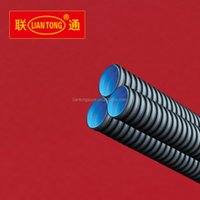 Liantong high quality HDPE double wall corrugated drainage pipes, large diameter hdpe pipes, hdpe pipe manufacturing
