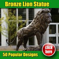 Made in China good quality bronze lion sculpture for arden decor