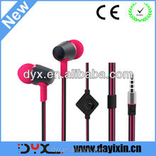 Colorful metal mobile phone earphone from shenzhen factory