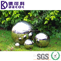 Polishing finished 304 316 stainless steel hollow sphere decorative metal ornament