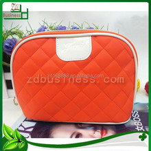 wholesale quilted nylon cosmetic brush bag