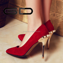 fashion red stiletto heel wedding pumps bridal shoes