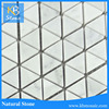 Irregular shape carrara marble fish scale mosaic tile