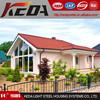 Prefbricated Steel Frame Log Cabin, Wooden Prefabricated Villa 079