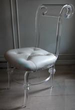 Elegant crystal acrylic wedding chair for sale
