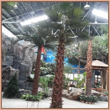 Artificial indoor landscape palm tree