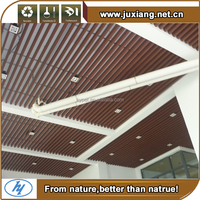 Long life decorative stretch plastic wpc outdoor wood ceiling