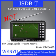 Hot sale mini handheld tv with external speaker and microphone recording