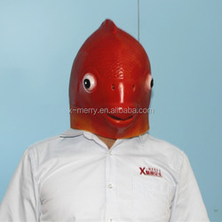 inventive design goldfish mask halloween fish monster