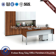 Metal legs Office Table With Filing Cabinet Office Desk (HX-5N345)