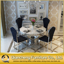 stainless steel round dining table and chair 879#