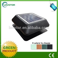 No pollution roof mounted solar exhaust fan with solar panel