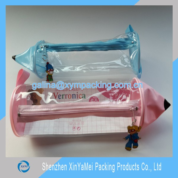 pvc zipper pencil case