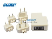 Suoer Universal Travel Charger Superb Quality Portable Travel Plug Low Price USB Travel Adapter Plug