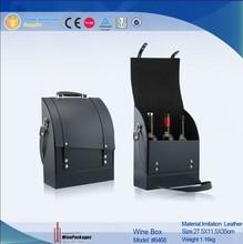 sedex audited wine pacakge leather red wine carrier bag