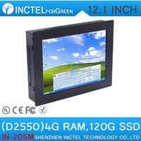 12 inch TouchScreen All IN ONE PC Computer panel 2mm thin with 12 inch 2 1000M Nics 2COM