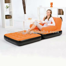 Single seat futon 5 in 1 inflatable sofa bed, folding indoor air sofa bed