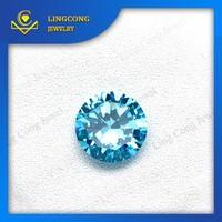 high quality round shape artificial aquamarine