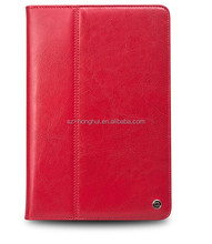 Retro leather case for ipad air 2 in red, untra thin and portable leather case for ipad 6 HH-IP616-16