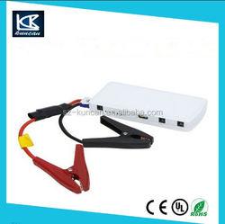 SZKUNCAN car battery jump starter connect jumper cables to jump start 6L gas car