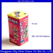 Decorative Christmas cookie tin box/ cookie tin container