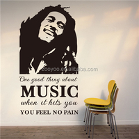 ZOOYOO music makes you feel no pain interior decoration painting star quotation stickers Jared Evan One Good Thing (8223)