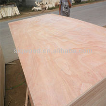 4mm commercial plywood hot pressed furniture board ,bintangor plywood, okoume face