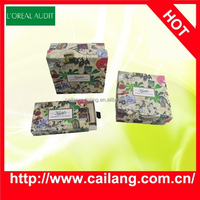 anime theme cosmetic paper gift box packaging, bag with customized design