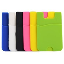 Top seller customized style mobile phone card holder silica smart pouch