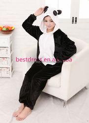 click to buy adult animal flannal onesie pajama unisex panda pajama