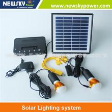 Sistema de iluminación solar para home use la rejilla iluminación y teléfono celular de carga solar kit de la luz