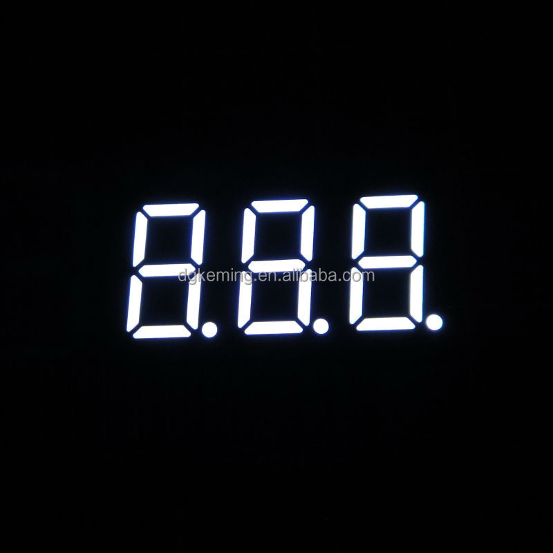 Mini led display white color 0.36 inch 7 segment led display 3 digits