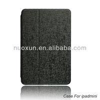 Custom design book pu leather case for ipad mini