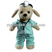 Doctor dog plush animal soft stuffed toy