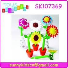 Wholesale many flower shape pen plastic cute pen for children