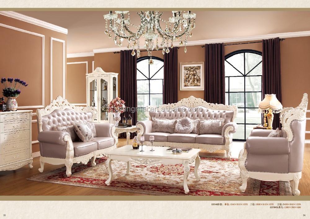 Solid Wood And Genuine Leather Dubai Sofa Furniture Buy