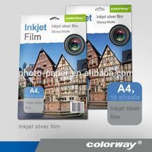 Metálico papel fotogra´fico/película de inyección de tinta a4/colorway de inyección de tinta papel fotográfico