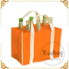 CHINA custom logo printing pp non woven wine tote bag