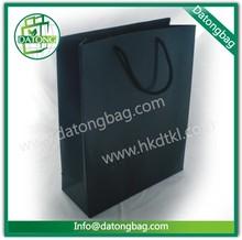 china guangzhou venta al por mayor de compras de promoción bolsa de papel de impresión negro con papel especial
