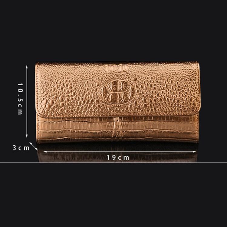 Fashionable Lady Clutch Wallet Crocodile Skin Women Wallet