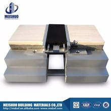 Recessed aluminum expansion joint seal with rubber strip