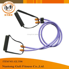 Crossfit Fitness Two latex resistance tubes chest expander