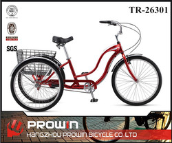 "26"" cheap adult tricycle for sale in philippines/3 wheeled bike china supplier (PW-TR26301)"
