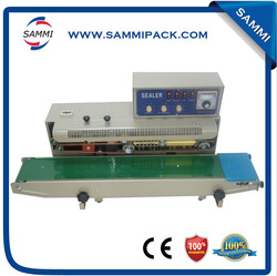 New Model Continuous Plastic Bag Sealer With Solid Ink Printer On Sale