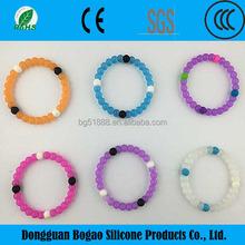 Bead shape mix color silicone bangle / bracelet /wristband
