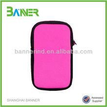 Waterproof promotional OEM logo printed neoprene zipper pouch