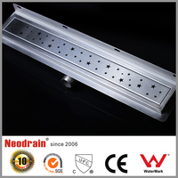 Stainless steel linear right angle shower drain