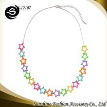 Sunshine Fashion Accessories Wholesale Statement Necklace Shape of Pentagram Necklace for Spring